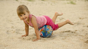Allenamento sulla spiaggia Fotografia Stock