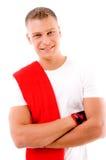 Allenamento - uomo con le braccia piegate Immagine Stock