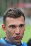 Allenatore di calcio nazionale Team Andriy Shevchenko dell'Ucraina Immagini Stock Libere da Diritti
