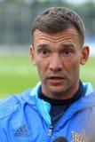 Allenatore di calcio nazionale Team Andriy Shevchenko dell'Ucraina Fotografia Stock