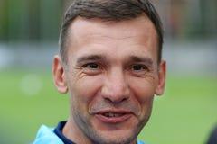 Allenatore di calcio nazionale Team Andriy Shevchenko dell'Ucraina Fotografia Stock Libera da Diritti