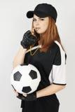 Allenatore di football americano della donna Fotografia Stock Libera da Diritti