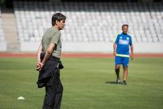 Allenatore di football americano Victor Piturca Fotografie Stock