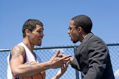 Allenatore di pallacanestro arrabbiato Immagine Stock Libera da Diritti