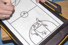 Allenatore di pallacanestro della compressa Fotografia Stock Libera da Diritti