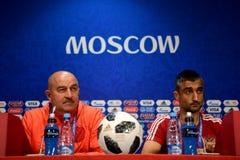 Allenatore nazionale russo Stanislav Cherchesov della squadra di football americano Fotografie Stock