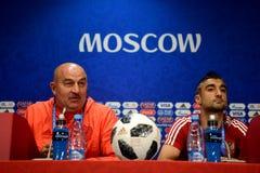 Allenatore nazionale russo Stanislav Cherchesov della squadra di football americano Immagini Stock