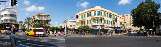 Allenby st panorama in Tel Aviv Royalty Free Stock Photo