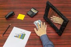 Allentare concetto dei soldi Fotografia Stock