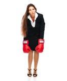 Allentare la donna di affari Immagini Stock