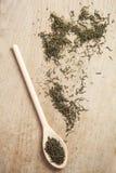 Allenti il tè verde secco Fotografia Stock Libera da Diritti