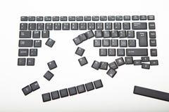 Allenti le coperture per le chiavi su una tastiera di computer immagine stock libera da diritti