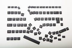 Allenti le coperture per le chiavi su una tastiera di computer Fotografie Stock Libere da Diritti