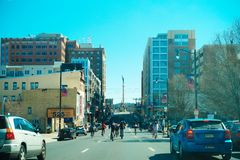 Allentown downtown street. Allentown, Pennsylvania, United States, March 18 2018: Allentown downtown street stock photography