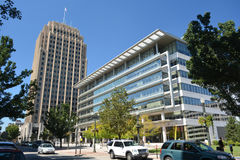 ALLENTOWN, PA, de V.S. - 18 September, 2015: Het PPL-gebouw, forme Royalty-vrije Stock Foto