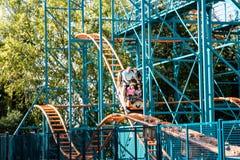 ALLENTOWN, PA - 22. OKTOBER: Achterbahnen an Dorney-Park in Allentown, Pennsylvania Stockfoto