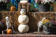 ALLENTOWN, PA - PAŹDZIERNIK 22: Halloweenowe dekoracje przy Dorney parkiem w Allentown, Pennsylwania Fotografia Stock