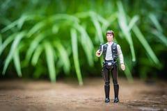 Allentown, Pennsylvania U.S.A. -- October 24, 2018: Star Wars action figure, vintage Han Solo bounty hunter Kenner to. Vintage star wars toy Han Solo action stock image