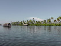 Alleppey backwater tourism in kerala Royalty Free Stock Photo