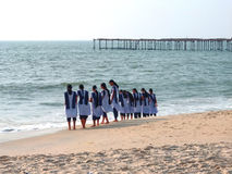 Alleppey beach on India Stock Photography