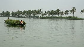 ALLEPPEY, INDIA - MARCH 2013: Everyday scene in Kerala Backwaters Stock Images