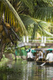 ALLEPPEY, KERALA, INDIA - AUGUST 16, 2016: Unidentified indian p Stock Image