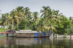 ALLEPPEY, KERALA, INDIA - AUGUST 16, 2016: Unidentified indian p Royalty Free Stock Photo