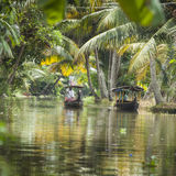 ALLEPPEY, KERALA, INDIA - AUGUST 16, 2016: Unidentified indian p Stock Photos