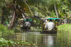 ALLEPPEY, KERALA, INDIA - AUGUST 16, 2016: Unidentified indian p Stock Images