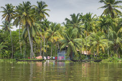 ALLEPPEY, KERALA, INDIA - AUGUST 16, 2016: Unidentified indian p Royalty Free Stock Photos