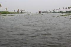 Alleppey-Stauwasser Stockbilder