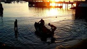 Aller à la pêche Photos stock