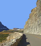 Aller-à-le-Sun-route, parc national de glacier Photos stock