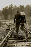 Aller de couples Images stock