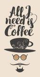 Aller, den ich benötige, ist Kaffee Lizenzfreies Stockfoto