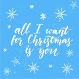 Aller, den ich für Weihnachten wünsche, ist Sie inspirational stock abbildung