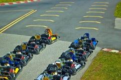 Aller-Karts photographie stock libre de droits