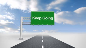 Aller Keep signent plus de la route ouverte illustration libre de droits