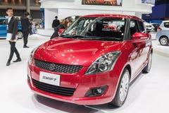 Aller neue Suzuki Swift 2015 auf Anzeige Stockbilder