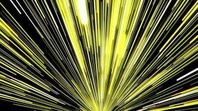 Aller rayons dans la couleur jaune sur le noir illustration libre de droits