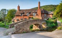 Allerford i Somerset Arkivbilder