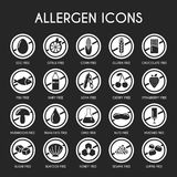 Allergen icons set. Vector illustration Stock Photography