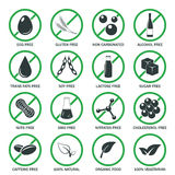 Allergen icons vector set. Stock Photo