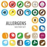 Allergens colorful set vector illustration