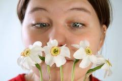Allergia ai fiori Fotografie Stock