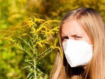 Allergia al polline insopportabile Immagini Stock Libere da Diritti