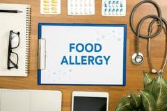 Allergia alimentare Immagine Stock