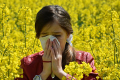 Allergia del polline Fotografie Stock