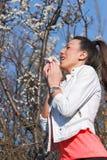 Allergia del polline in primavera Fotografia Stock