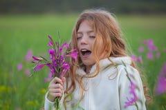 Allergia del raffreddore da fieno Fotografia Stock Libera da Diritti